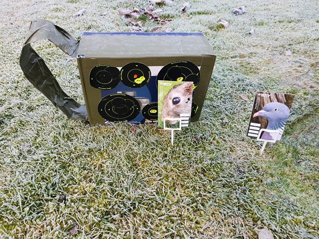 Life Size Vermin Targets Air Rifle Brown Rat and Grey Squirrel Air Gun
